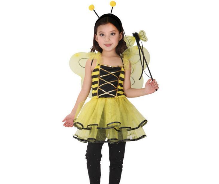 cute bee costume girls halloween party cosplay costumes discounted childrens day fancy baby kids dance costumes for 90130cm groups of 3 costumes cool