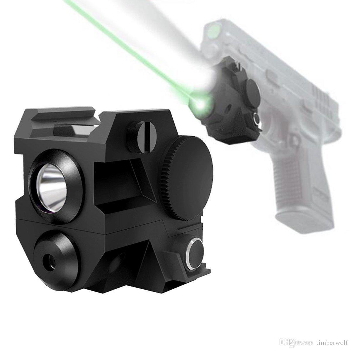 Mini laser de pistola tático Sub Compact Laser Sight com trilho de montagem  alta Lumen CREE LED lanterna de luz integrado Combo com Strobe