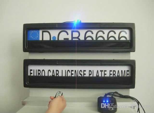 Hidden Your Car License Number Car License Plate Frame With Remote