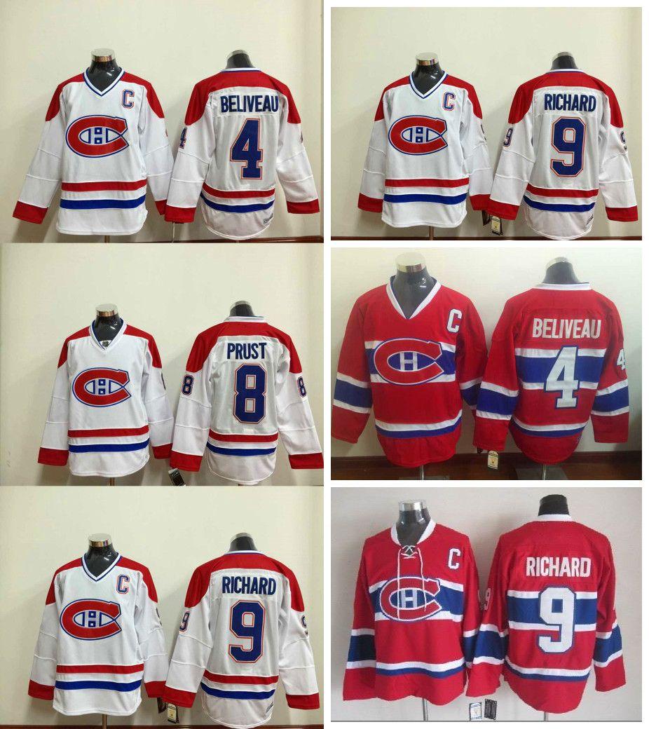 684b1ecc24b ... 9 Maurice Richard Ice Hockey 2017 Montreal Canadiens Ccm Vintage  Throwback 4 Jean Beliveau Jersey Ice Hockey 8 Brandon Prust Jerseys ...