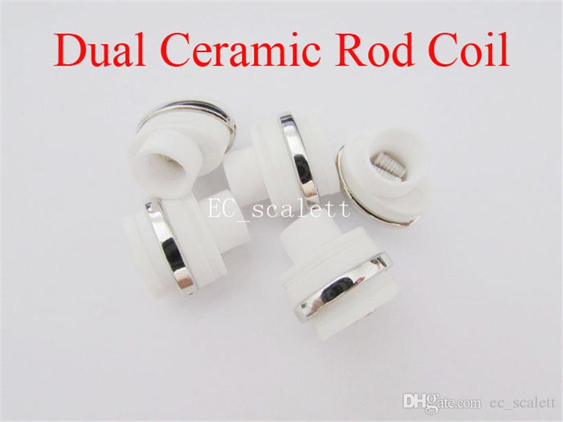 Dual Ceramic Rod coil micro atomizer core for wax dry herb g Flat Vaporizer Replacement Heating coil dry herb and wax coil