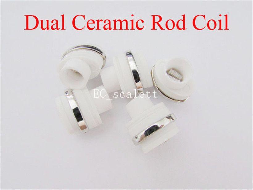 Dual Ceramic Rod Coil Wax Replacement Core Quartz Atomizer For Wax Vaporizer Pen Quartz Rod for Elips Cloud Pen micro g pen