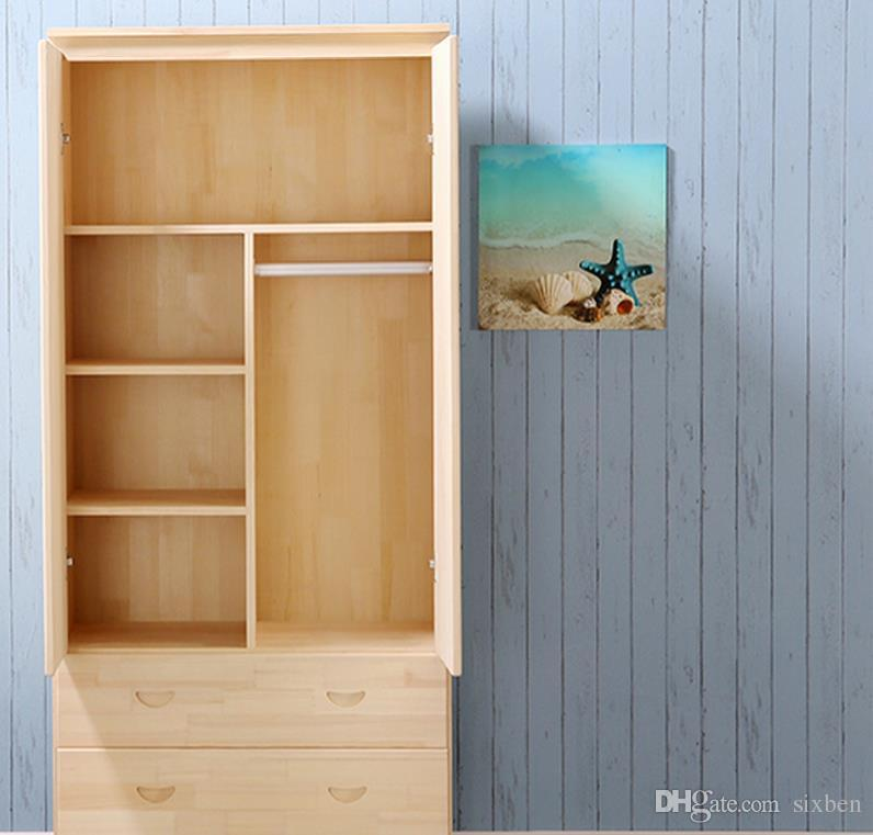 2018 Solid Wood Wardrobe Closet Two Special Offer Children Pine Door  Wardrobe Lockers Storage Cabinet Mini Lockers From Sixben, $220.11 |  Dhgate.Com