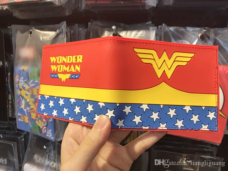 Anime Wallet Hot Movie Wonder Woman LOGO Purse carteira feminina Dollar Card Holder Bag Casual Leather Short Wallets