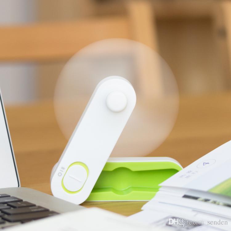 Novo Simples USB Recarregável dobrado Mini ventilador Handle DIY Vento Forte portátil USB Ventilador de Bolso Mini Ventiladores de Dobramento para o Dispositivo de Crianças Estudantes