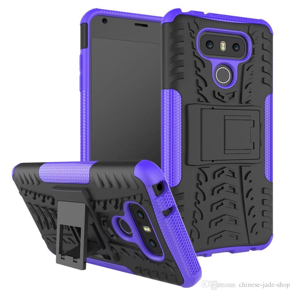 Dazzle Heavy Duty Rugged Dual Layer Impact Armor KickStand CASE COVER FOR LG K31 K41S K51 Stylo 6 harmony 4