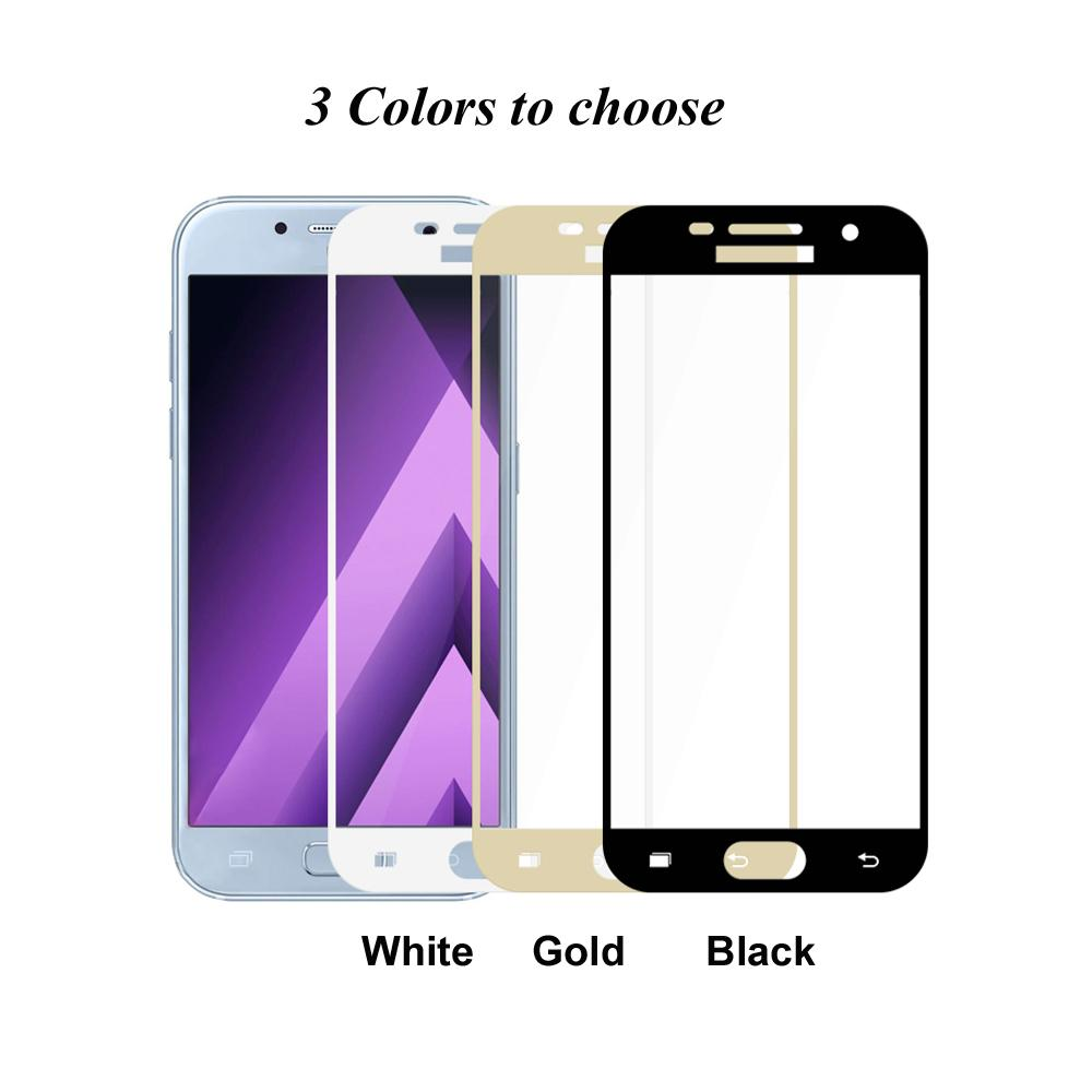 9H Premium HD Full Cover Tempered Glass for Samsung Galaxy A3 A320 A5 A520 A7 A720 2017 Screen Protector Film