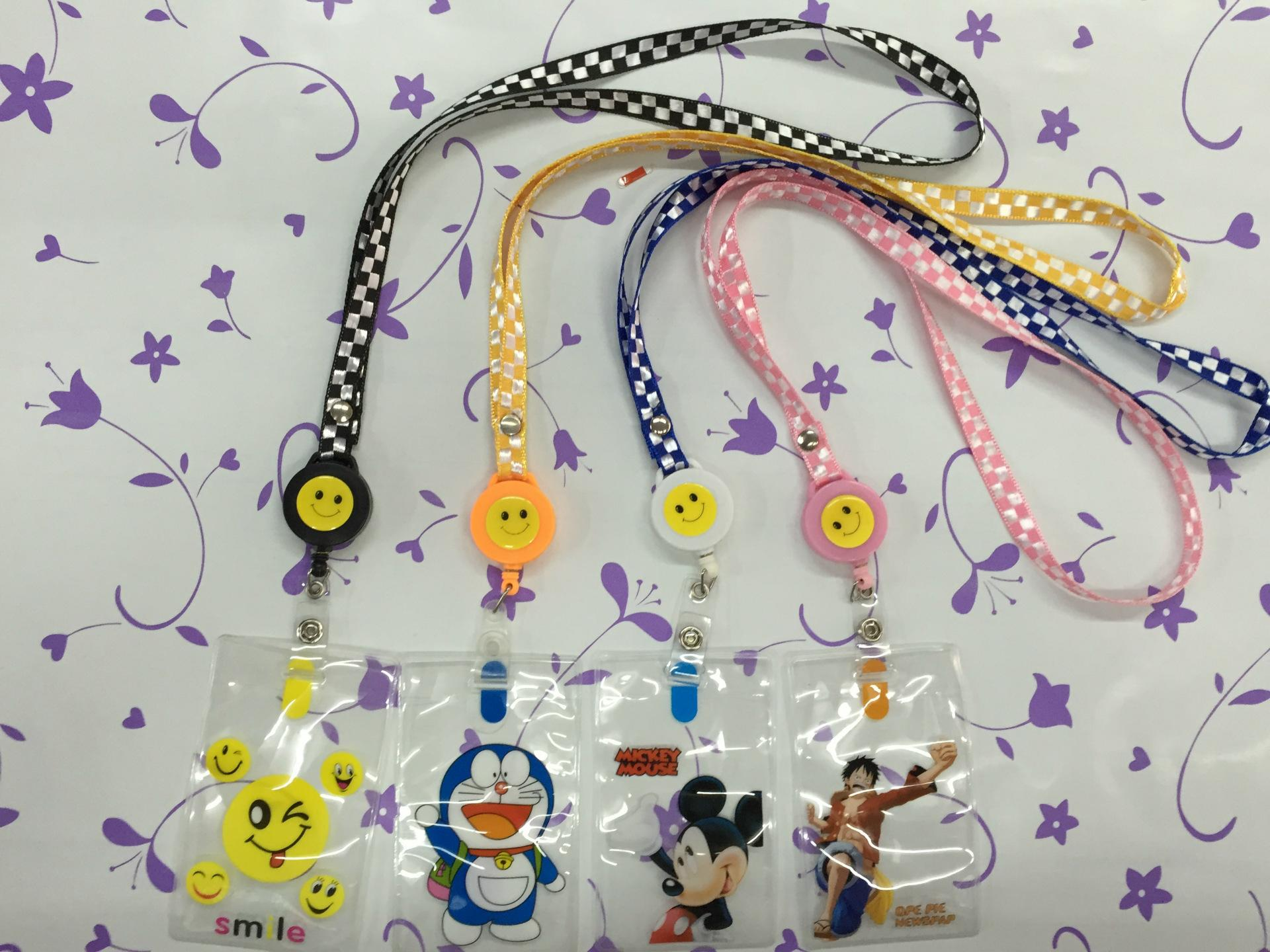 Smiling face is easy to pull clasp The breastpiece button scale identification card sets of hang hang rope working permit Tags wire grid
