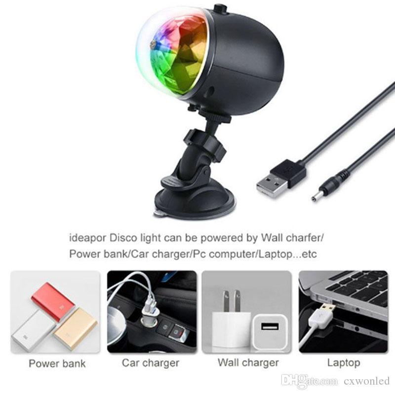 USB 충전식 방수 스테이지 레이저 빛 레드 Bule 그린 회전 크리스탈 공 램프 야외 KTV 클럽 파티 파티 웨딩 휴가