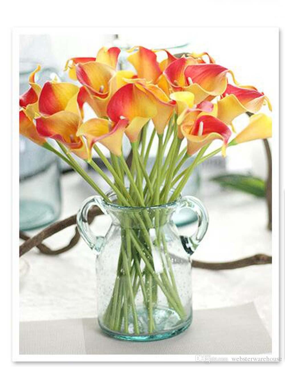 Calla Lily Bridal Wedding Bouquet Head Lataex Real Touch