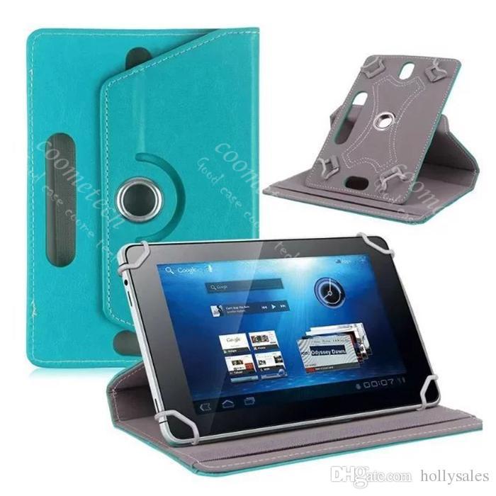 Evrensel 360 derece rotationg tablet pu deri kılıf standı arka kapak için 7-9 inç fold liop durumda toka ile inşa