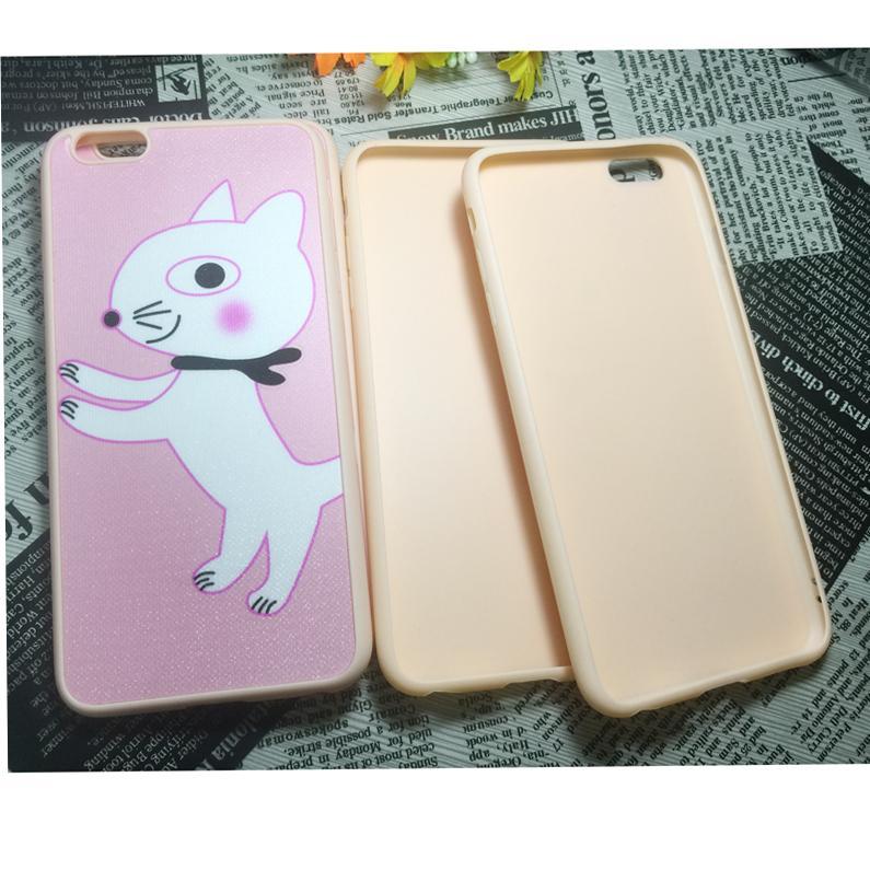 Para 6s Iphone além de TPU macio Ultrafino doces colorem caso barato suave silicone de borracha Gel Phone Case tampa traseira para 6S Além disso 6S 5S Magro