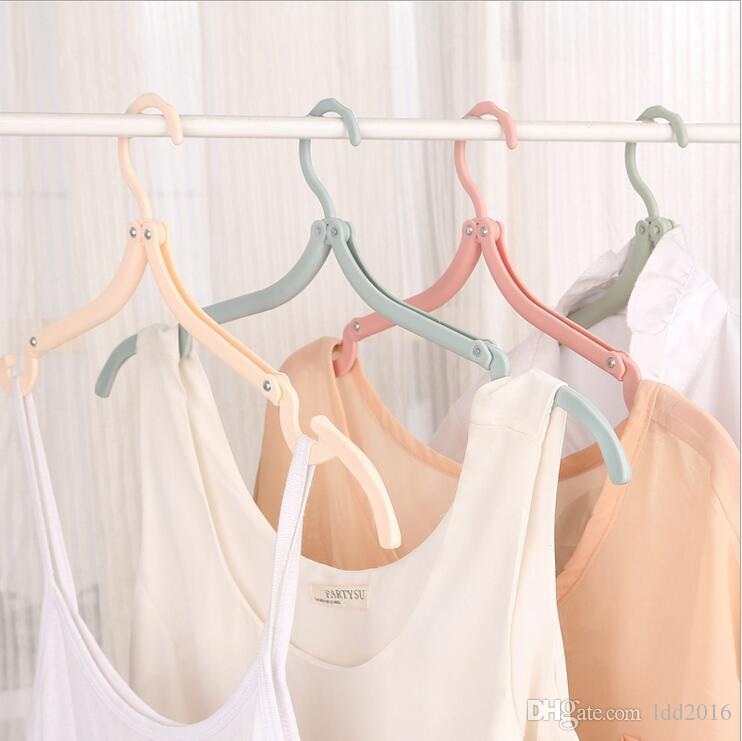 new household helper candy foldable plastic coat magic hanger easy portable travel drying racks hangers for laundry clothes saving space