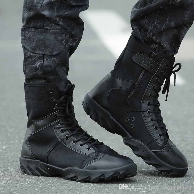 Outdoor Hiking Shoes Tactical Boots Black Combat Boot
