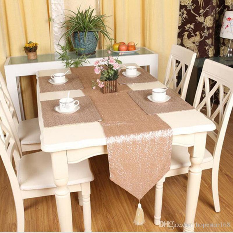 98 dining room mat 2017 2840cm pure luxury sequin table mat polyester fiber decoration - Dining room table mats ...