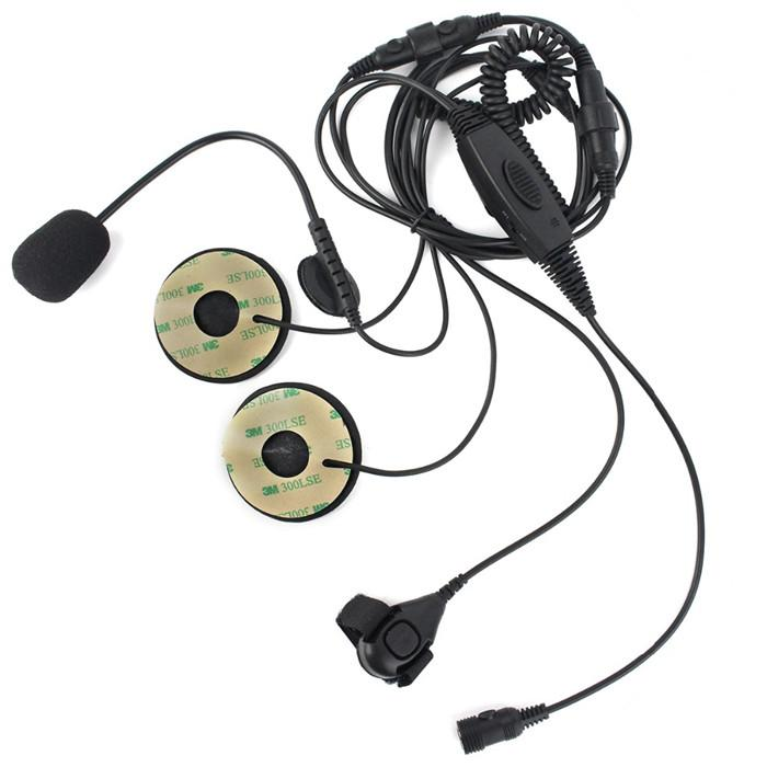 Finger Ptt Adjustable Vox Mic Earpiece Headset For Motorola For