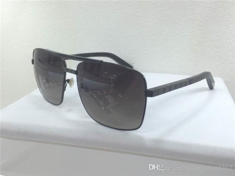 Erkekler güneş gözlüğü tutum sunglass altın çerçeve kare metal çerçeve vintage stil açık tasarım klasik model