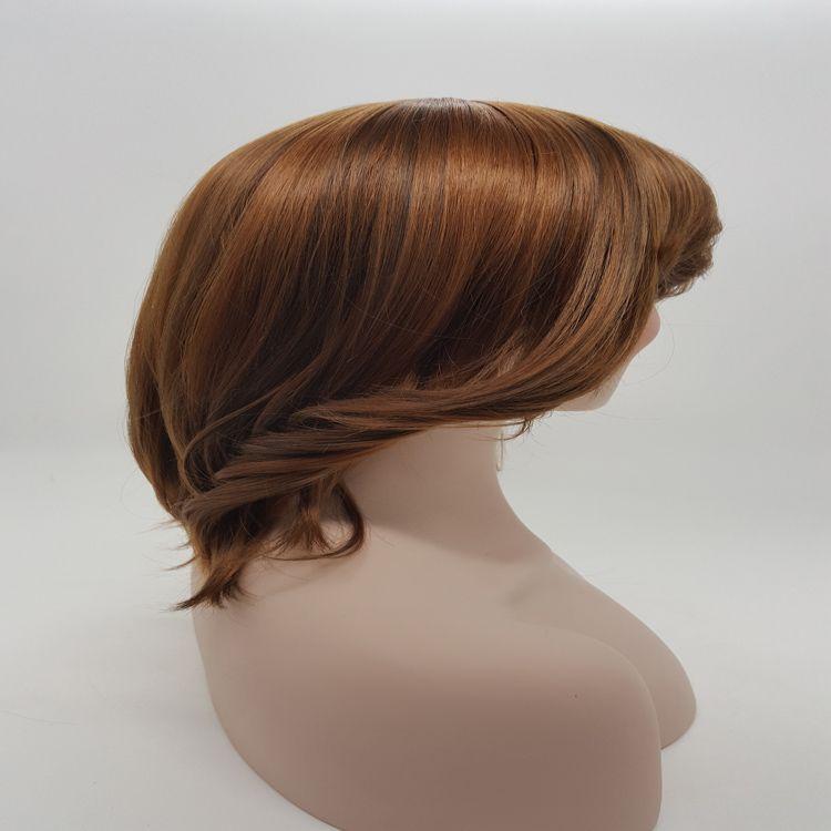 Peluca rizada de la peluca larga XT734 Se seleccionan muchos tipos de colores Mediun-longitud Peluca de fibra sintética natural del calor del 100% del pelo