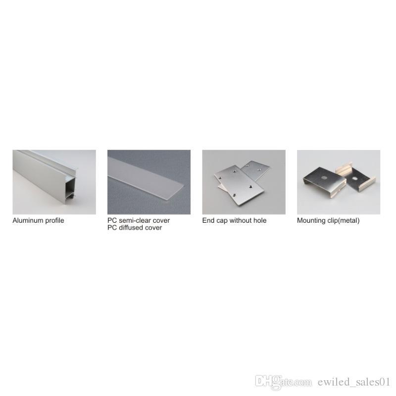 Acheter 50 X 1m Fixe Aluminium Rondelle De Mur Profil Conduit Et Type H Plat Led Alu Canal Pour Mur De Haut En Bas Lampe De 1263 01 Du