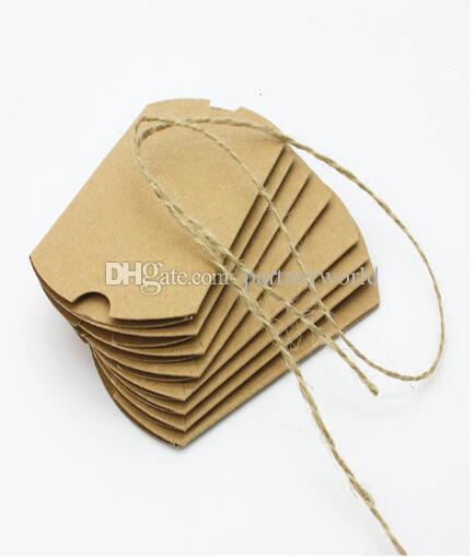 Мода горячие симпатичные крафт-бумага подушка подарочная коробка свадьба пользу подарок конфеты коробки бумажные подарочные пакеты wa3248