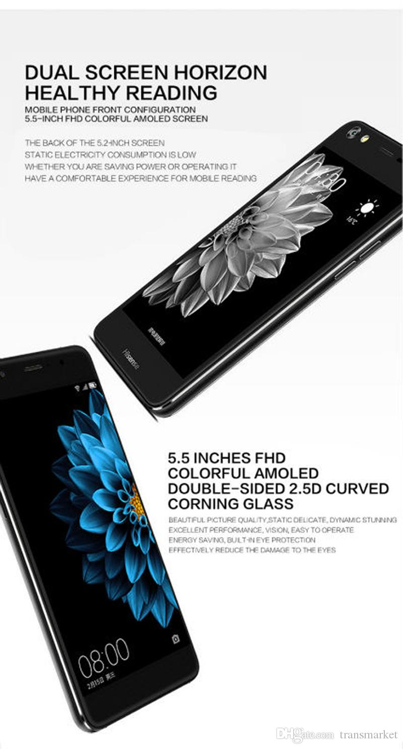 Hisense A2 Support Mobilephone 5.5Inch Double-sided 2.5D Curved Inkscreen 4GB RAM 64GB ROM Smartphone 5MP+16MP Support Fast Charge Cellphone
