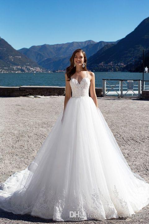 2019 Sexy Beach Plus Size abito da sposa in pizzo Sweetheart Backless senza maniche aperto indietro abito da sposa Vintage abiti da sposa