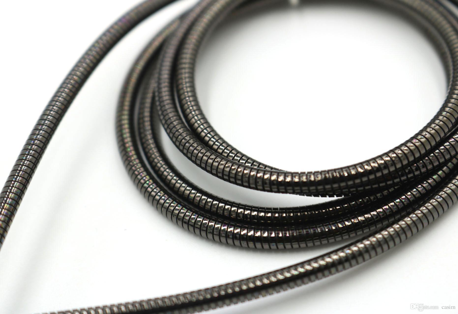 Micro-USB-Kabel-Schnur-Luxusmetallfrühling, der Daten-Linie CASIM echte Gebühr lädt, schreiben Sie C-Kabel für Samsung s7 s6 LG Huawei Android