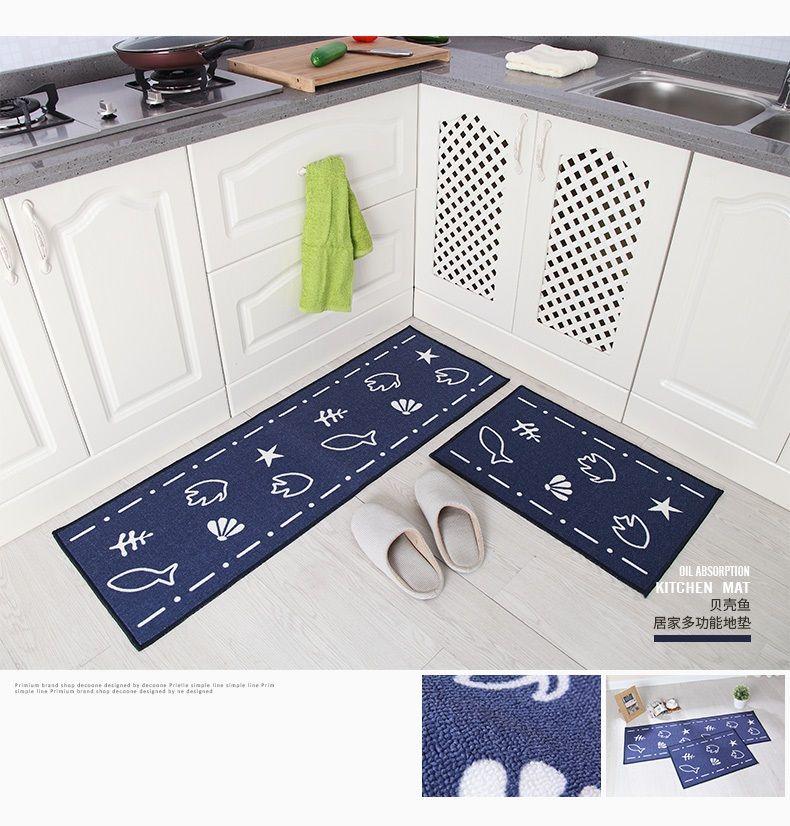 2018 Hotsale 2 Pçs / set Tapetes De Banho De Cozinha Tapete, 15 Cores Anti Slip Grande Tapete Do Banheiro, Estilo Moderno Tapete De Banheiro Para Banheiro Alfombras