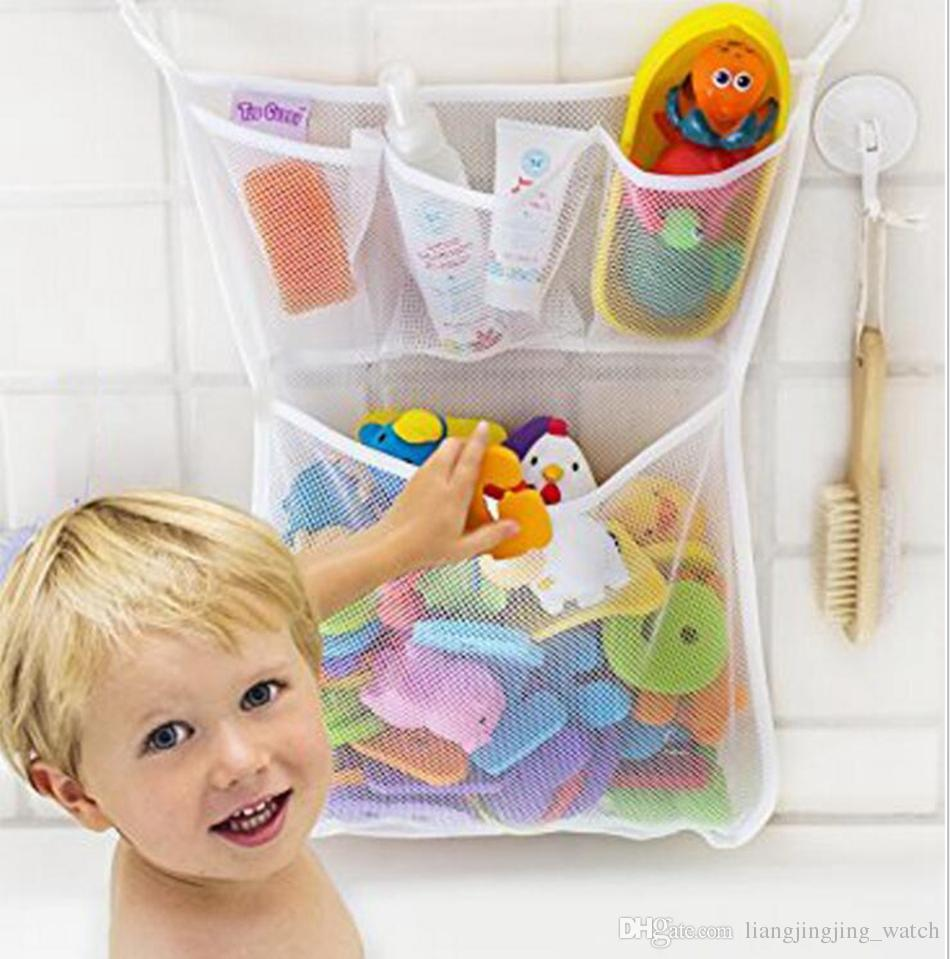 Baby Bath Storage Bag Hanging Mesh Net Bathroom Shower Toy Baskets ...