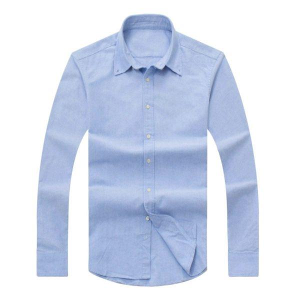 2017 새로운 가을, 겨울 남성 긴 소매 면화 셔츠 순수 남성 캐주얼 POLOshirt 패션 옥스포드 셔츠 사회 브랜드 의류 lar