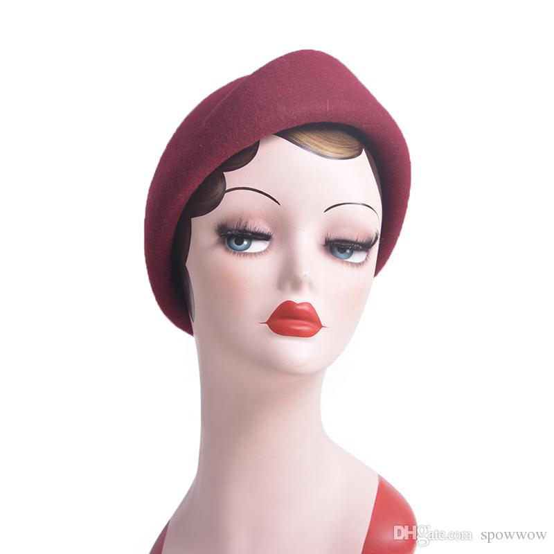 Pure Color Cocktail Fascinator Base Wool Air Hostesses Pillbox Hat Millinery Craft DIY Making Rope A137
