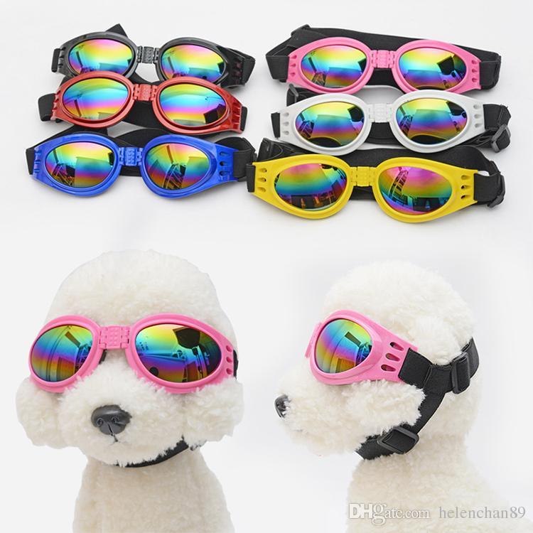 Compre Moda Cão De Estimação Gato Cool Óculos De Sol Olho Desgaste Proteção  UV Óculos De Sol À Prova D  Água Para O Pequeno Médio Cães Pet Halloween ... bb7ed0f6c3