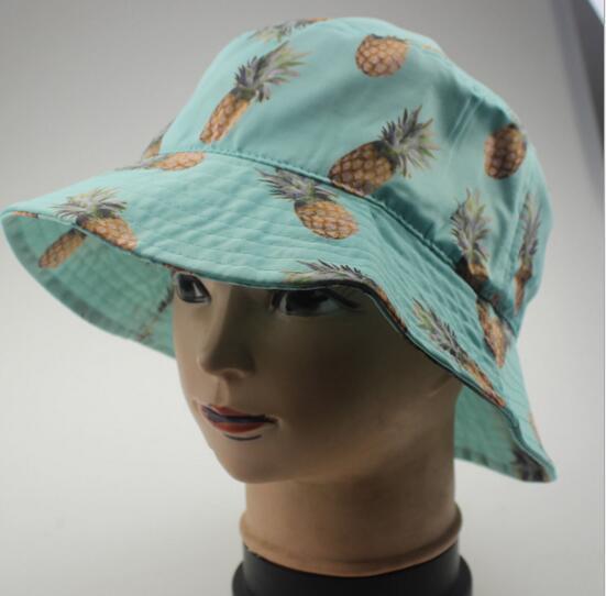 Carino frutta stampa pescatore secchio cappello cappellino da sole all'aperto cappelli da chiesa accessori moda poliestere unisex adorabile carino passione funky