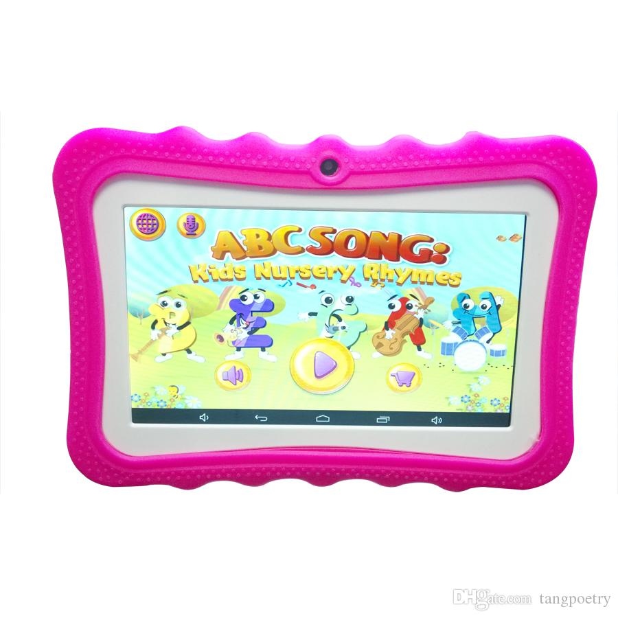 NEW Cheap 7 inch Children's tablet Quad Core Allwinner A33 Android 4.4 KitKat Capacitive 1.5GHz 512MB 8GB Dual Camera