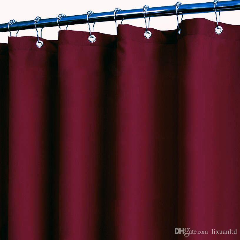 2017 Burgundy Plain Fabric Canvas Shower Curtain With Free Hooks From  Lixuanltd, $22.12 | Dhgate.Com
