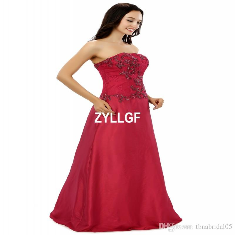 Bretelles Nouvelle Arrivée Zipper Perlé Fleur Motif Robes De Soirée Sans Manches Plus La Taille Robes Robe De Soirée Robe De Soirée