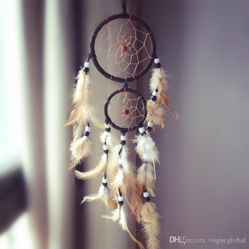 Dream Catcher Hangings Decor Bague cadeau d'anniversaire Dreamcatcher accessoires grand paragraphe
