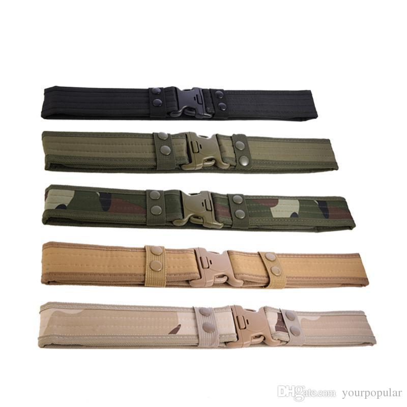 Men's Wide Canvas Belt Plastic Insert Buckle Military Nylon Training Camouflage Designer Belts Army Tactical Belts for Men male strap