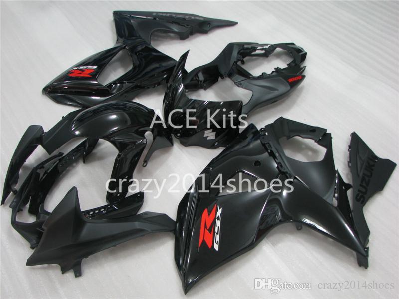 5 brindes novos kits de carenagem da motocicleta abs 100% apto para suzuki gsxr1000 k9 k11 2009-2014 gsxr 1000 k9 k11 preto artigo no.291