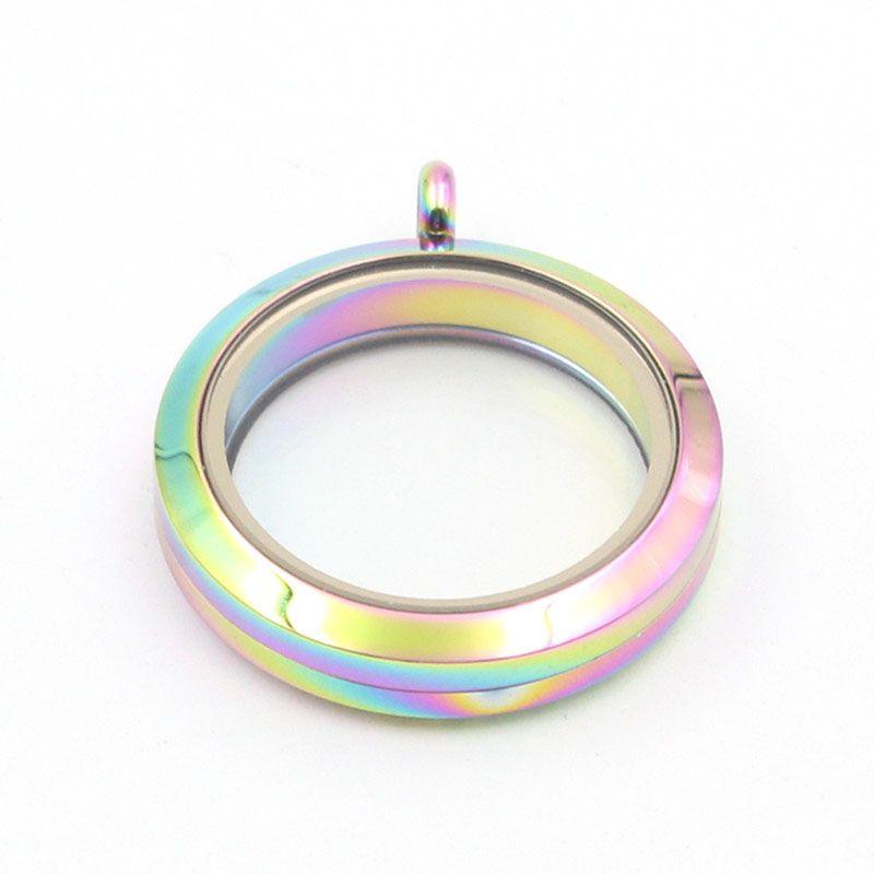 Панпан ювелирные изделия! 30мм плавающей очарование медальон магнитный круглый памяти медальон из нержавеющей стали 316L стекло медальон кулон подарок