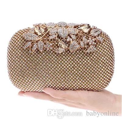 966e1046c Blog De Noivas 2017 Nova Moda Barata BlingBling Diamond Crystals Mulher  Nupcial Festa De Bolsas Clutch Evening Bags Preto / Prata / Ouro Com  Correntes ...