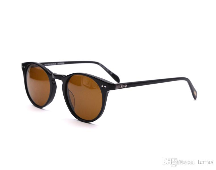 Oliver Peoples ov5256 Polarized Round frame Sunglasses-Vintage Eyewear Male 5031 Sunglasses for Men and Women