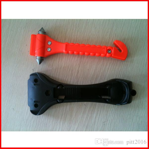 Car Auto Safety Seatbelt Cutter Survival Kit Window Punch Breaker Hammer Tool for Rescue Disaster & Emergency Escape KLQ0003