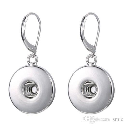 Noosa Chunk Ginger Snaps Jewelry Earrings 18mm Snap Button Earrings Trend DIY Jewelry Interchangeable Earrings N0011