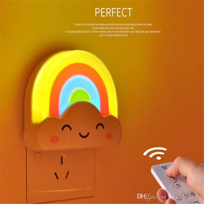 LED Regenbogen Bunte Intelligente Lichtsteuerung Mini Baby Zimmer Nachtlicht Dekorative Lichter Baby für Kinder Erwachsene Zimmer Weihnachtsgeschenk