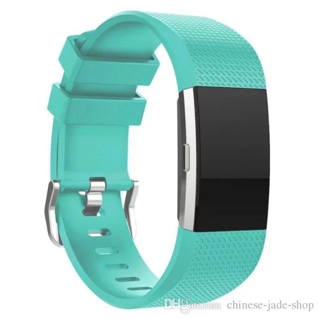실리콘 교체 밴드 Fitbit 충전 2 손목 시계 스트랩 밴드 손목 밴드 스포츠 스트랩 /