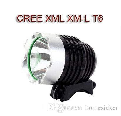 T6 Vélo Lumière HeadLight CREE XM-L LED 1800 Lumens 3 Mode Vélo Avant Phare LED HeadLamp Avec 8,4 V Batterie Pack Chargeur