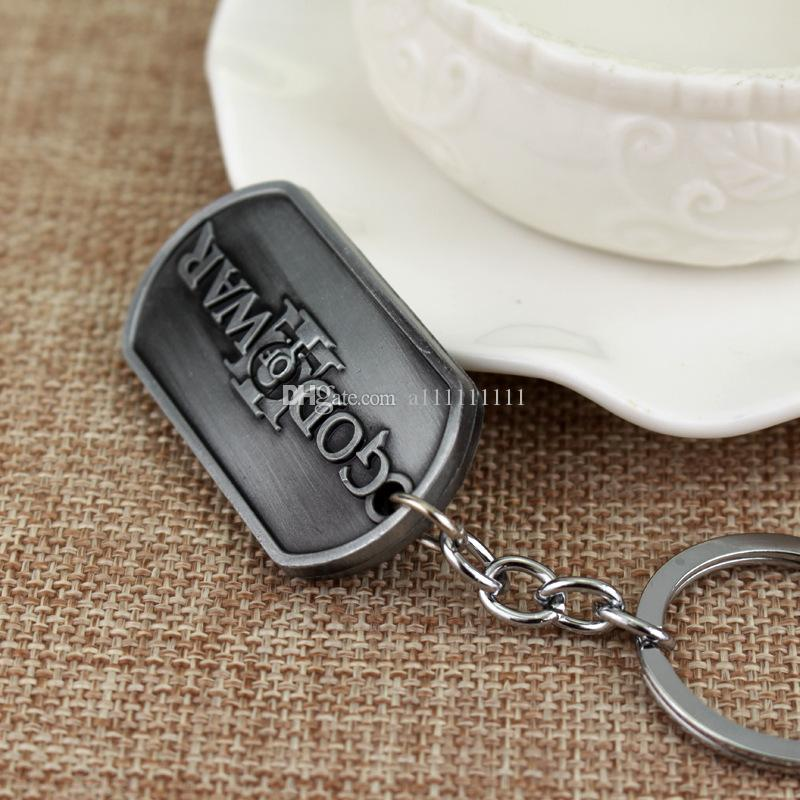 New Arrival Game Of War Key Chain God Of War Letter Keychain Alloy Key Ring Eyes On The Back