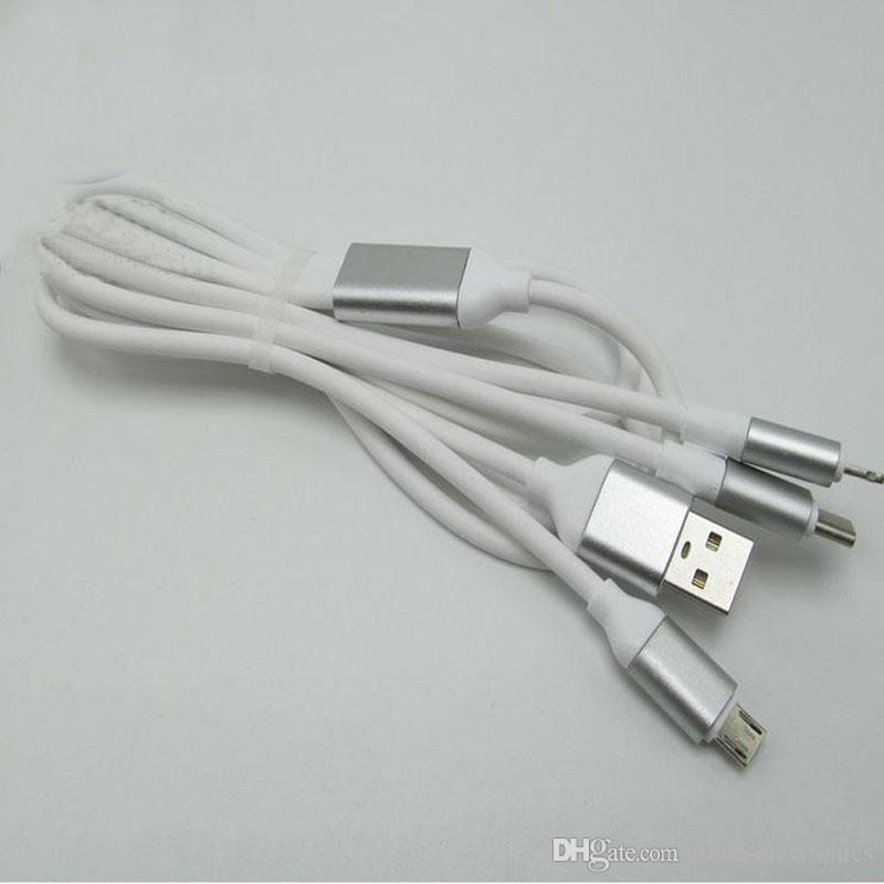 3 em 1 micro usb cabo tipo c cabo de carregamento do telefone móvel cabo para xiao mi android telefone inteligente