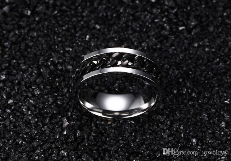 Fashion Jewelry Tianium Stainless Steel Ring Unisex Tianium Finger Rings for Man Woman Birthday Wedding Gifts